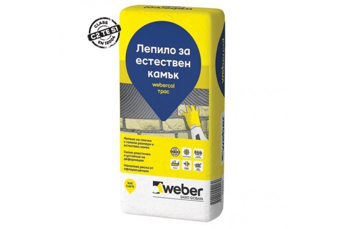 Webercol Трас  F609<br/> Лепило за естествен камък C2TES1, 25кг