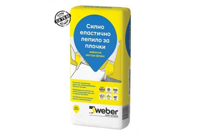 Webercol екстра флекс <br/> Силно еластично лепило за плочки