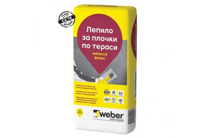 Webercol Флекс F605<br/>Еластично лепило за плочки C2TE, 25кг