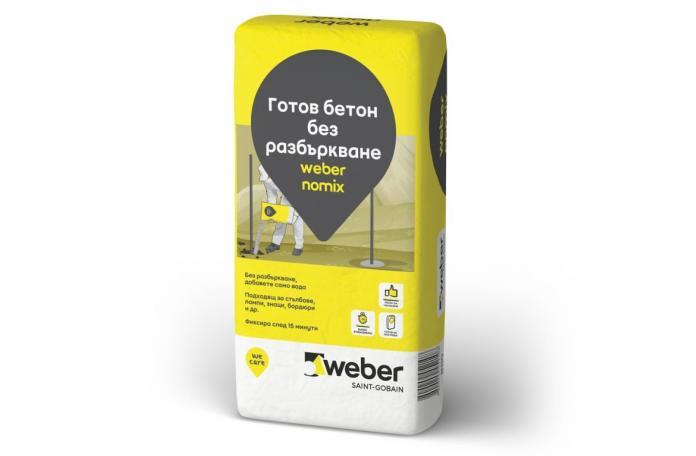 weber nomix B110<br/>Готов бетон без разбъркване, 25 кг