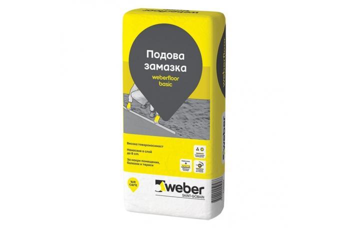Циментова подова замазка<br/>WEBER L300 бейсик, 25 кг