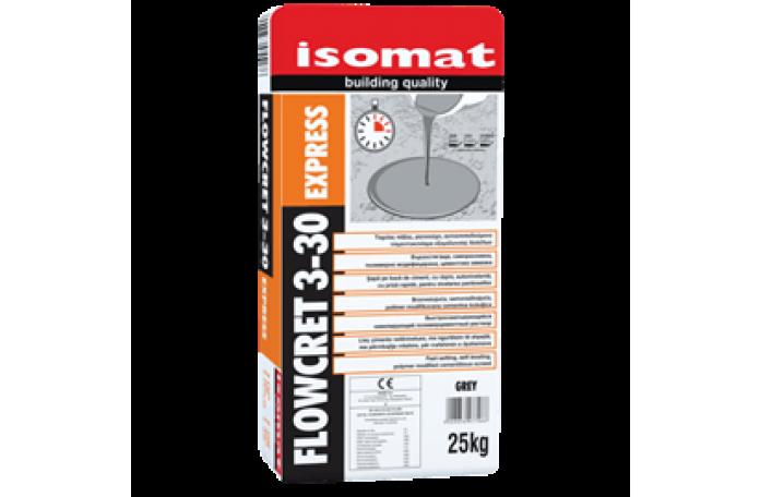 Флоукрет Изомат Експрес 3-30, саморазливна циментова замазка, 25кг