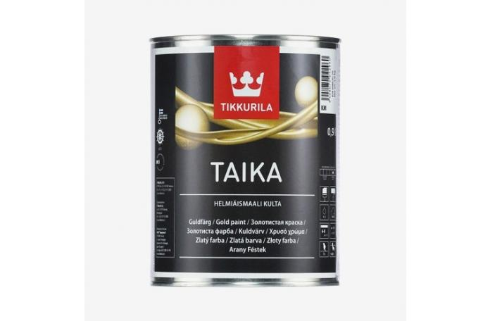 TAIKA KM Перлена плътна боя - злато 0,9 л