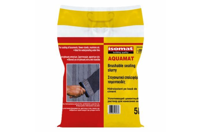 AQUAMAT - бяла циментова хидроизолация - 5кг.