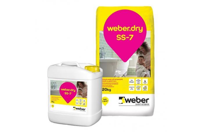 Weberdry SS-7, FW606 двукомпонентна хидроизолация 26кг