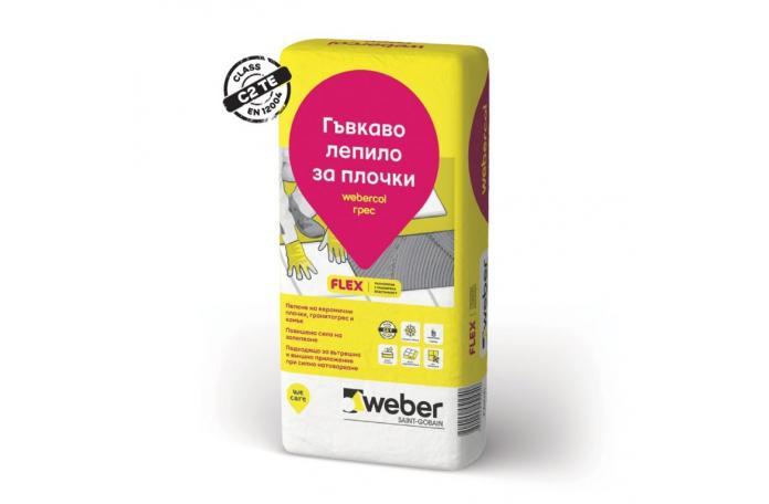 Webercol Грес F606<br/>Лепило за плочки и камък C2T, 25кг