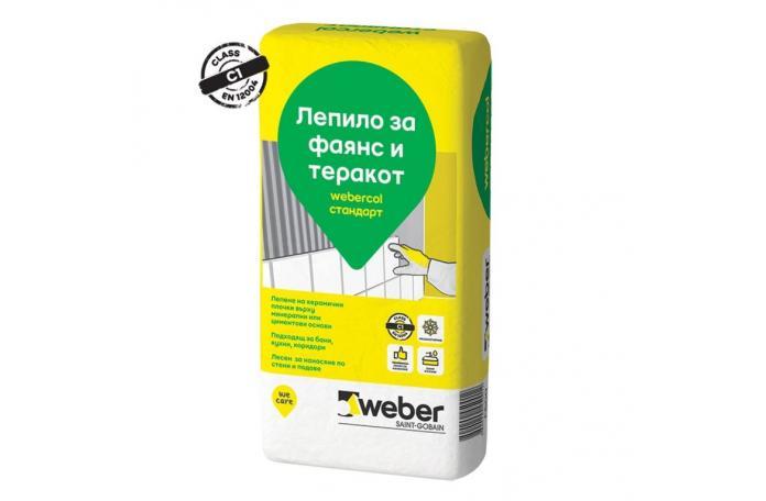Webercol стандарт F600<br/>Лепило за фаянс и теракот C1, 25кг