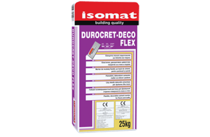 Дурокрет - Деко Флекс полимерна микроциментова смес с фибри, 25кг