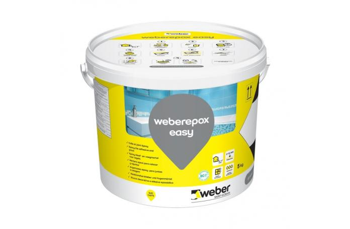 weberepox easy двукомп. фугираща смес и лепило 5кг