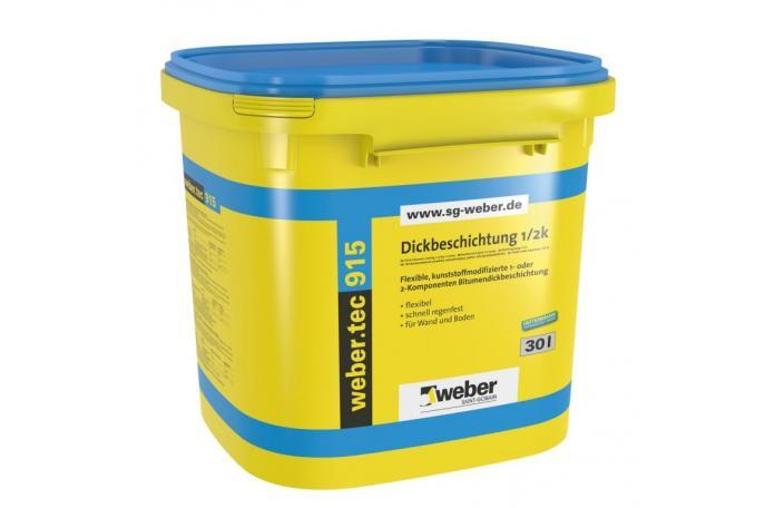 Webertec 915, FW09 Едно- или двукомпонентна битумна хидроизолация 30л