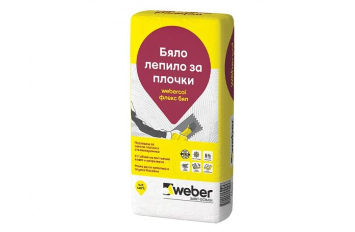 Webercol Флекс бял F608<br/>бяло еластично лепило C2TE, 25кг