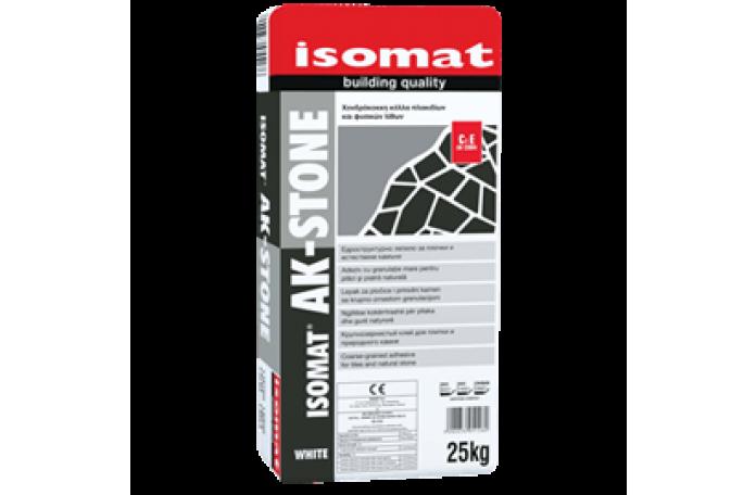 Изомат АК-Стоун - лепило за плочки и естествени камъни,сив 25кг
