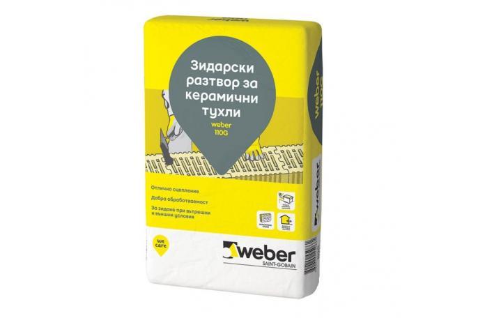 Weber 110G<br/>Зидарски разтвор за керамични тухли, 40 кг
