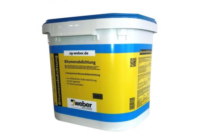 Weber FW35 Bitumenabdichtung Еднокомпонентна битумна хидроизолация 30л