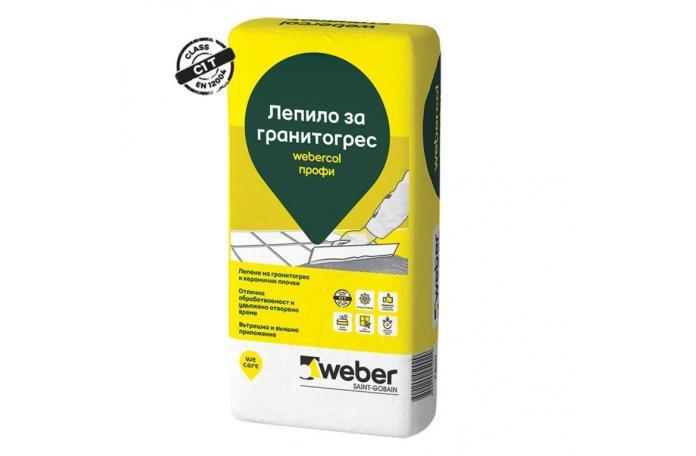 Webercol Профи F601<Br/>Лепило за гранитогрес C1T, 25кг