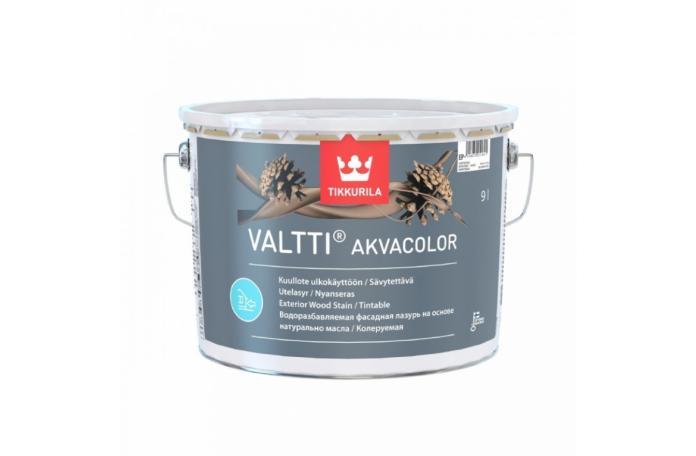 VALTTI AKVACOLOR EP 0,9 L Масло за дърво на ВО - фасада