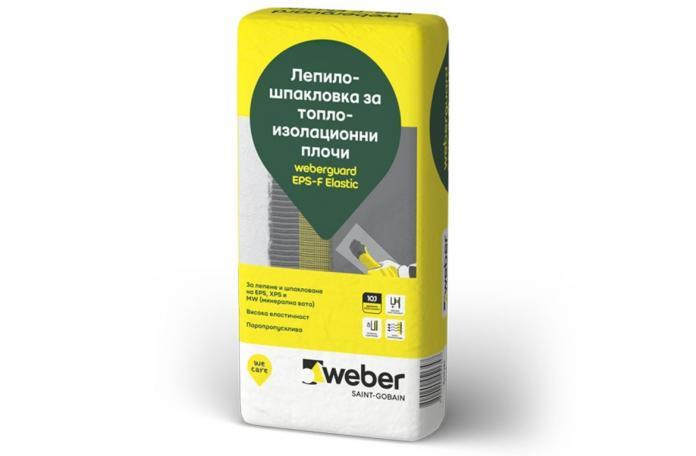 Weberguard 510P EPS-F Elastic Лепило-шпакловка за топлоизолационни плочи, 25кг торба