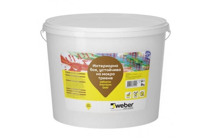 Weberlor Premium Gold  C323<br/>Интериорна боя, 8кг