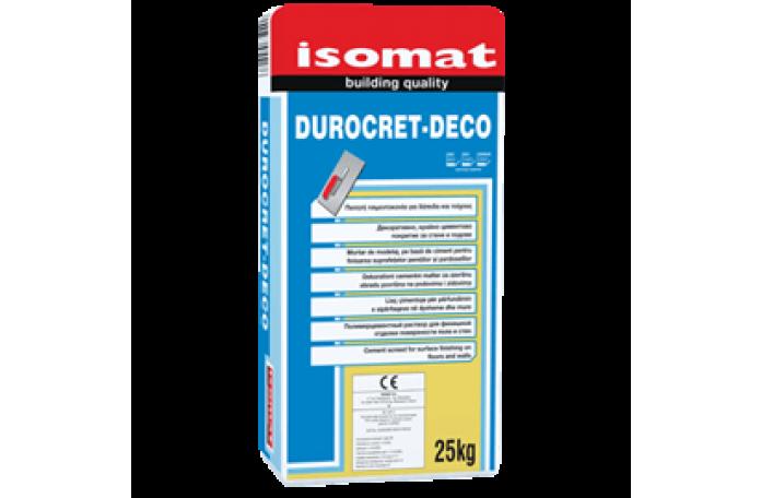 Дурокрет - Деко полимерна циментова смес с фибри, 25кг.