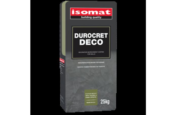 Дурокрет - Деко полимерна циментова смес с фибри, бяла, 25кг.