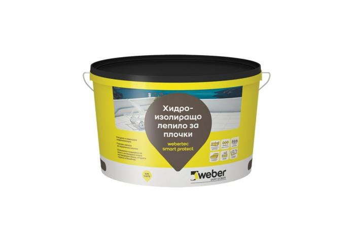 Webertec Smart Protect FW023<br/>Хидроизолационно лепило за плочки, 5кг