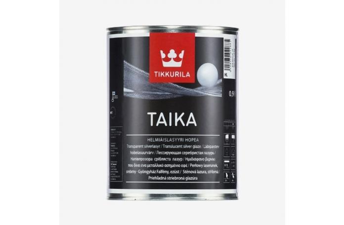 TAIKA HM Перлена плътна боя - сребро 0,9 л