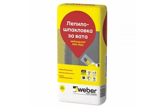 Weberguard 517P MW Max Лепило-шпакловка за фасадна вата, 25кг торба