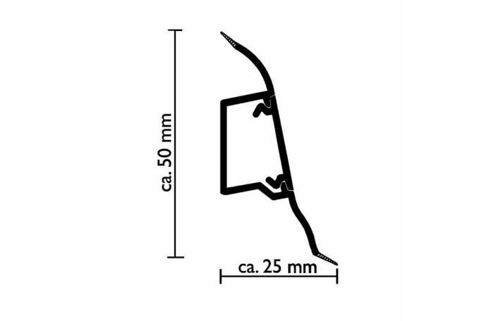 Перваз Стокхолм с кабел канал W646 - размери