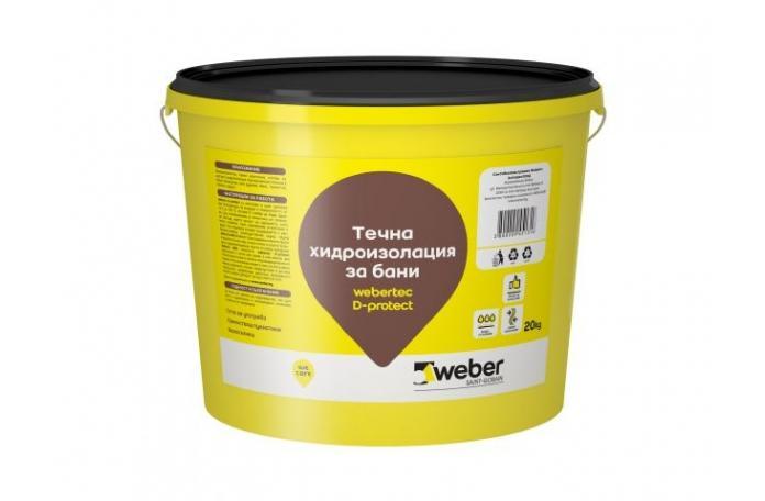 Webertec D-protect, FW050003I Течна хидроизолация за бани 20кг.